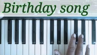 Sal bhar me Sabse pyara hota hai ek din (happy birthday song)by Kunal on piano