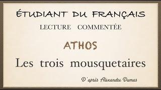 Урок французского языка. Athos. Les trois mousquetaires.