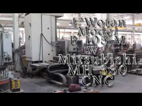 "4"" WOTAN B105 M 3-AXIS HORIZONTAL BORING & MILLING MACHINE"