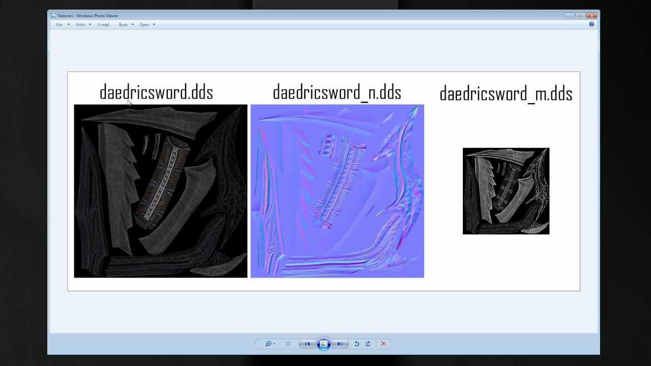 Skyrim Tutorial: Schwert (Teil3: DDS maps | Photoshop)
