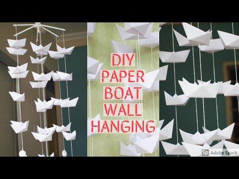 DIY | Beautiful Paper Boat Wall Hanging | Home Decor Ideas