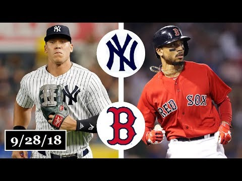 New York Yankees vs Boston Red Sox Highlights || September 28, 2018