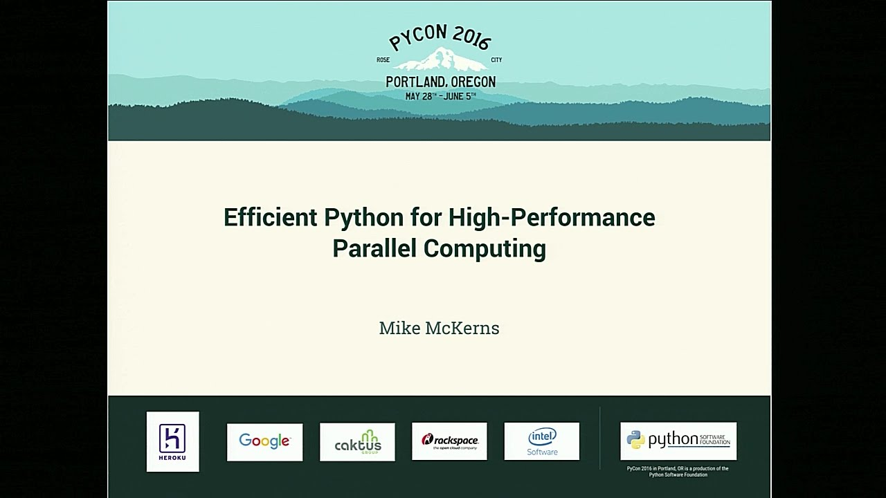 Image from Efficient Python for High-Performance Parallel Computing