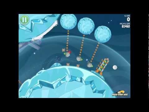 Angry Birds Space S-6 Cold Cuts Bonus Level Walkthrough