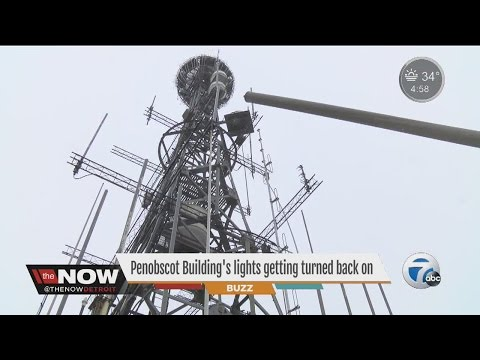 Penobscot Building's lights to turn back on