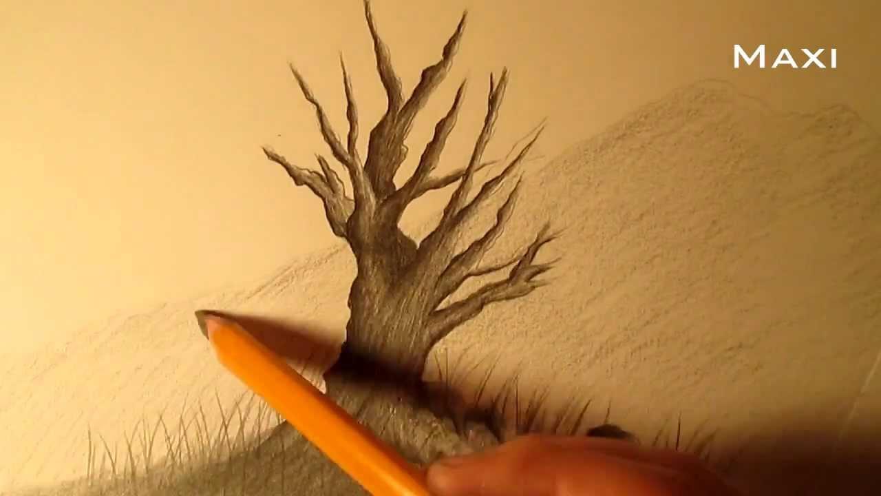 Cómo Dibujar Un árbol A Lápiz Paso A Paso Cómo Dibujar Un árbol