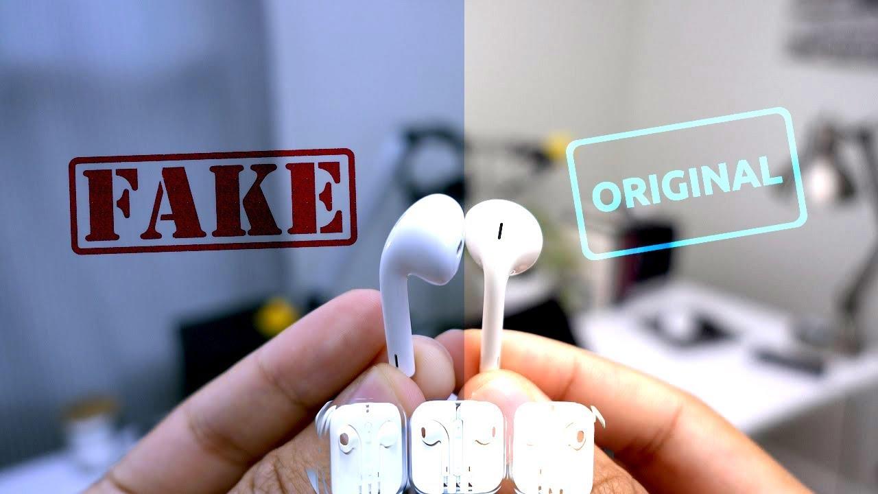 Как отличить подделку EarPods IPHONE (4, 5, 6, 7, 8, X). Способы распознать неоригинальные наушники