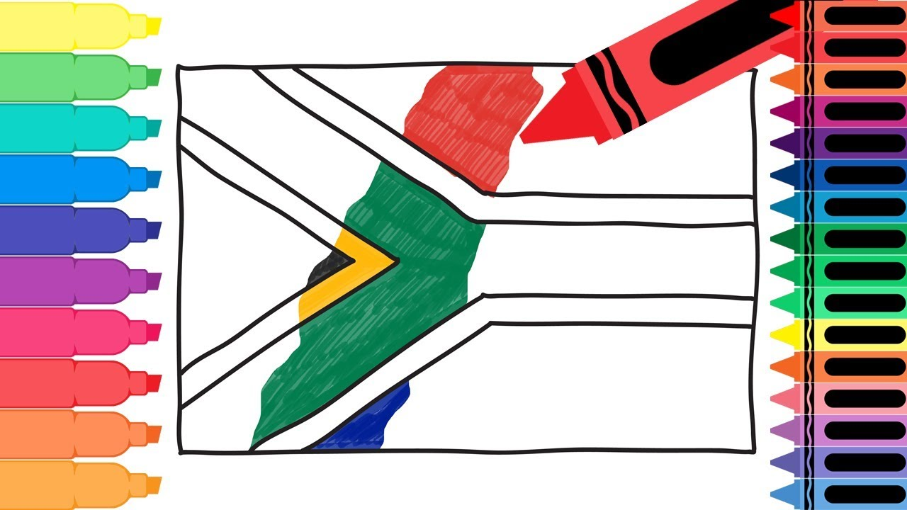 Uncategorized Flag For Kids how to draw south africa flag drawing the african for kids tanimated toys