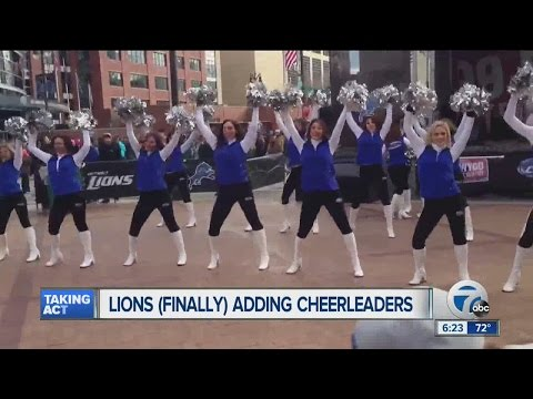 Detroit Lions (finally) adding cheerleaders