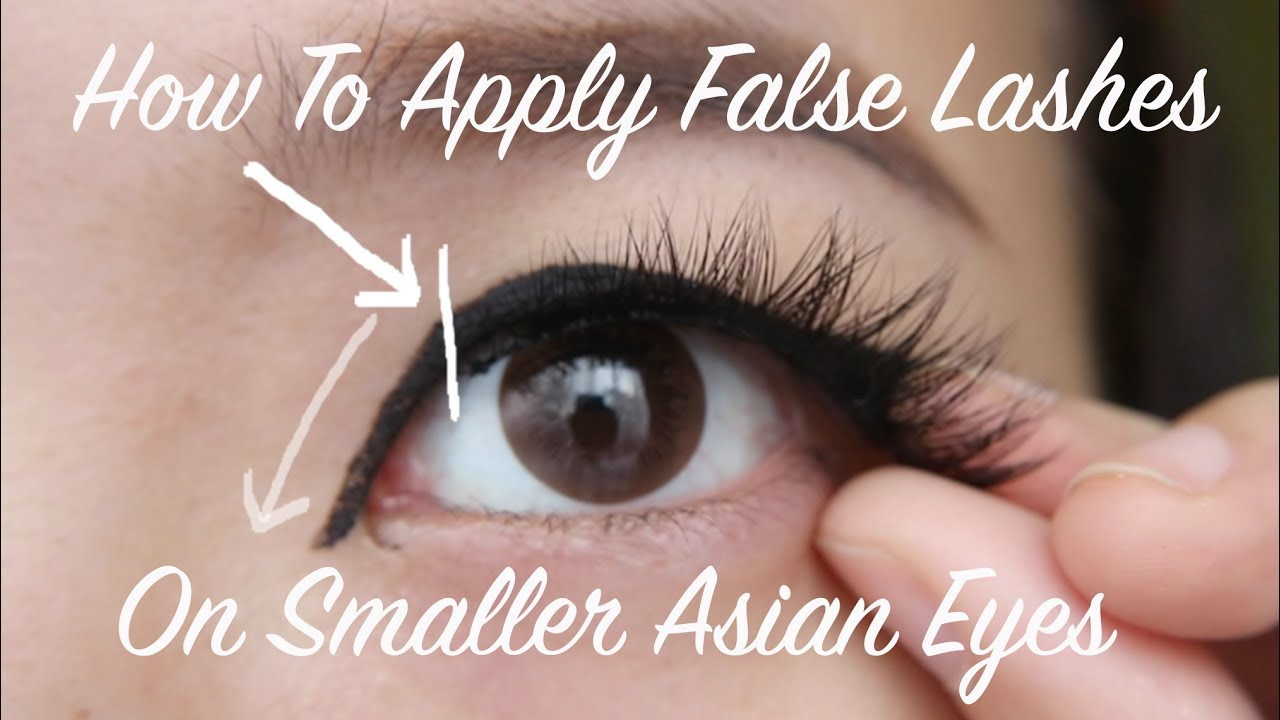 8cdfa980ce2 How to Apply Fake Lashes on Monolids & Asian Eyes - YouTube