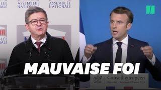 Macron répond à Mélenchon sur les militaires de l'opération Sentinelle