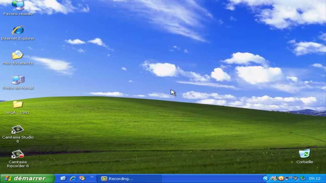 Episode 12 pr sentation de windows xp 1er partie le for Bureau windows 7