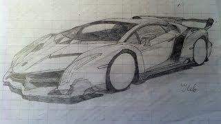 Как нарисовать Lamborghini Veneno (Полное видео без перемотки)(Ссылка на картинку: http://en.autowp.ru/pictures/l/lamborghini/veneno/lamborghini_veneno_14.jpg., 2014-03-13T22:56:44.000Z)