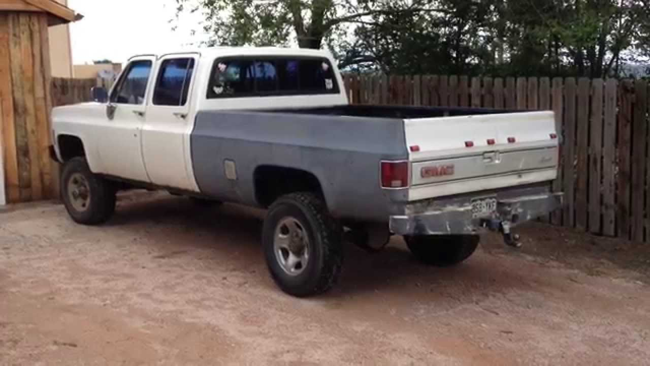 Chevy K20 For Sale >> 1979 Chevrolet K20 3+3 Silverado Crewcab diesel - YouTube