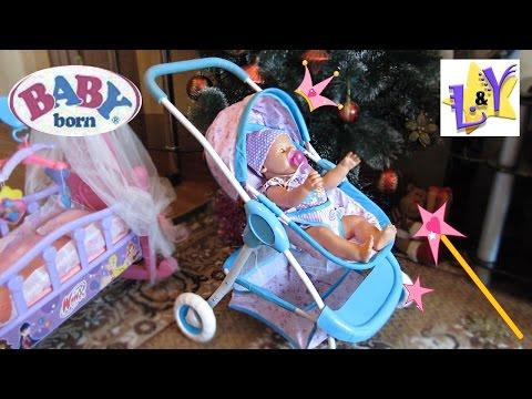 Дед Мороз подарил Минни Маус коляску для Беби Бона Распаковка Как Мама Видео для детей