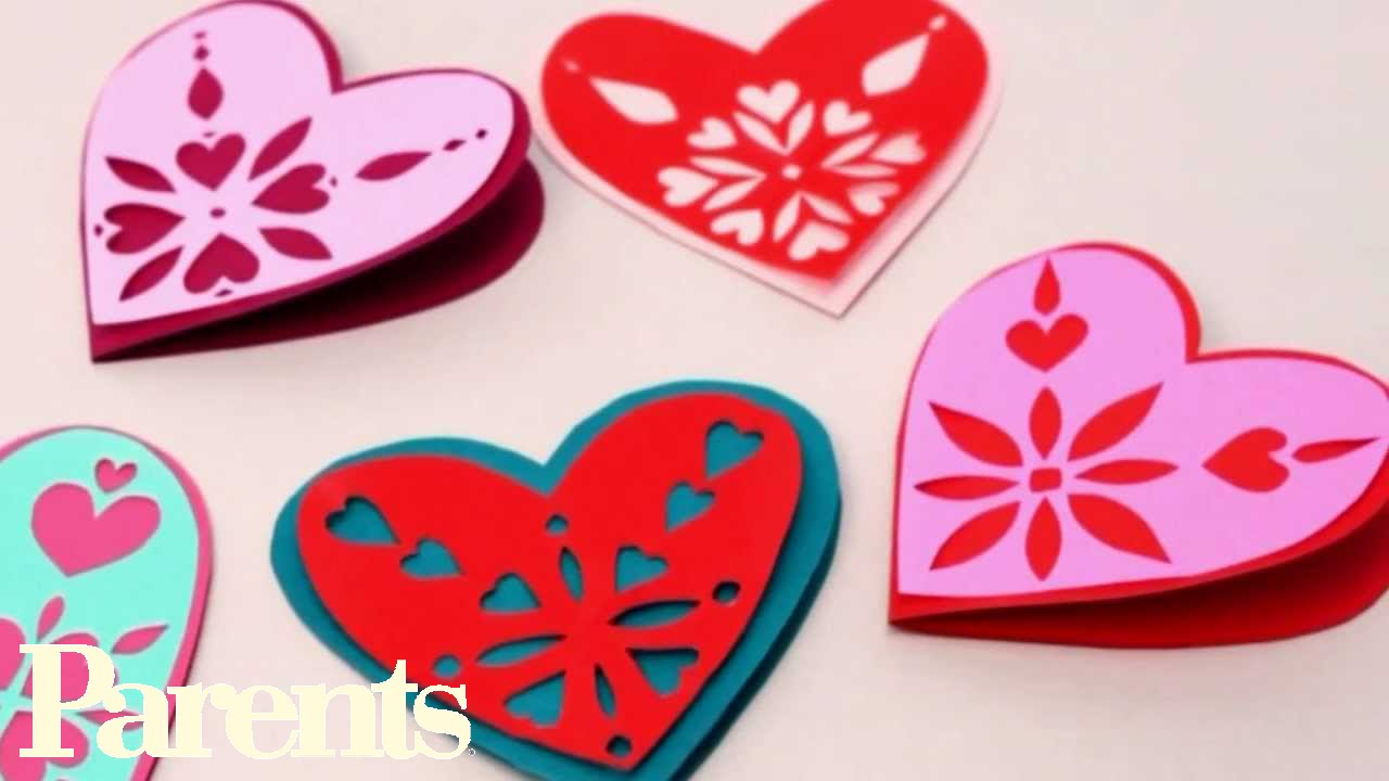 Easy Valentine S Day Craft Paper Snowflake Hearts Parents Youtube