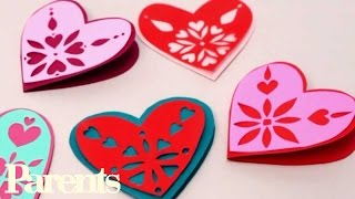 Easy Valentine's Day Craft - Paper Snowflake Hearts