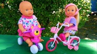 Видео для детей! Куклы на велосипедах попали в аварию Video for kids! Dolls on the  bicycles(Это видео про кукол, которые катаются на велосипедах, а потом, решают поменяться велосипедами и сьехать..., 2016-07-25T08:32:45.000Z)