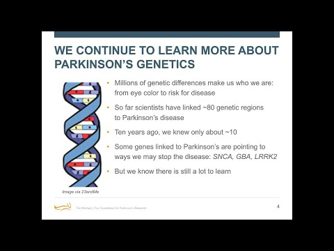 """Webinar: """"How Genetic Discoveries Lead to Parkinson's Therapies"""" January 2018"""