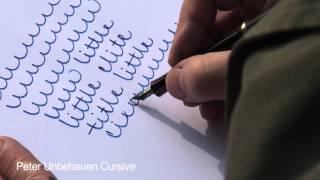 ① Peter Unbehauen: A new handwriting style