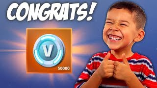Fortnite Sent This Guy 50,000 V-Bucks!!