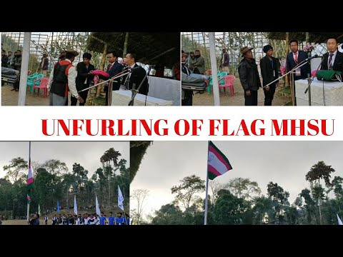 UNFURLING OF FLAG|34th Session MHSU SPORTS MEET 2020|ATO#INGKANGSHU