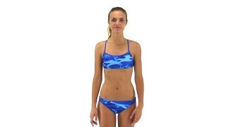 Splish Blue Camo Bikini Bottom | SwimOutlet.com