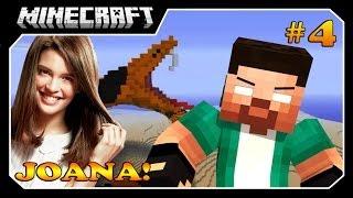 Minecraft - O Caçador!! #4 O MATADOR E JOANA!!