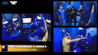 NICKY BLACKMARKET & FATMAN D BIRTHDAY BASH WARM UP - Rough Tempo LIVE - December 2014