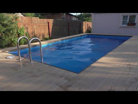Строительство бассейна из полипропилена 6*3*1,5 м. 2 этап.