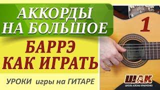 1. Уроки гитары для начинающих. Вычисляем аккорды по всему грифу