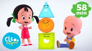 Learn the shapes with Cuquin - Basic shapes for babies | Cleo and Cuquin