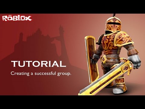 Roblox Tutorial: Creating a successful group.