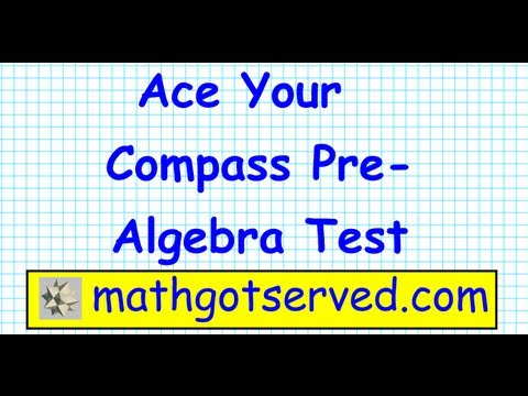 compass test numerical skills prealgebra part I (1-5) Placement test ACT community college