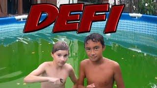 Défi : Nager dans une piscine sale!