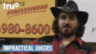 Impractical Jokers - Rodeo Champ Dragged Through The Mud (Punishment) | truTV