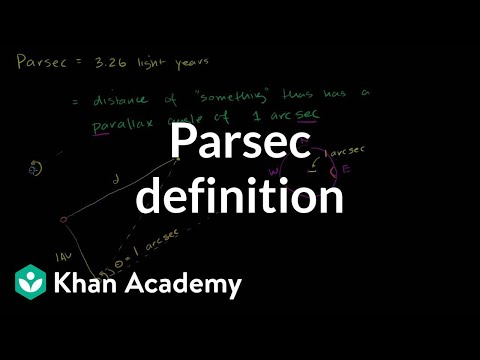 Parsec definition | Stars, black holes and galaxies | Cosmology & Astronomy | Khan Academy