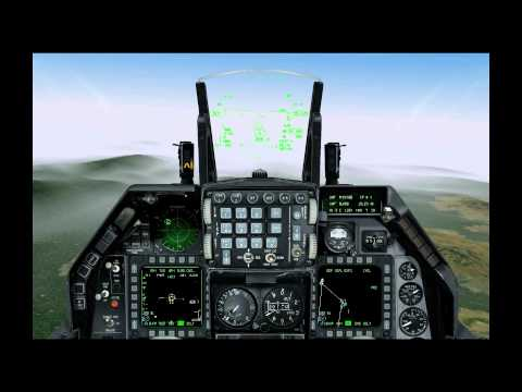 Falcon 4 Allied Force F-16 Bombing and Dog Fighting vs Mig 29s