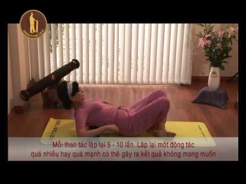 Bài tập chữa đau lưng, thoái hóa cột sống với con lăn DOCTOR100