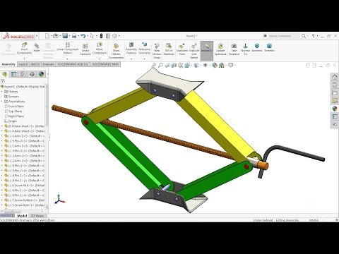 Solidworks tutorial | Design and Assembly of Car Jack in Solidworks | Solidworks