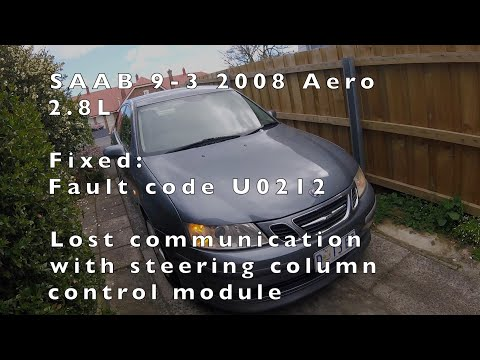 SAAB 9-3 ABS module repair Fixed DTC U0212