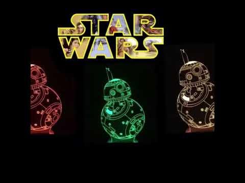 Star Wars LED 3D Lamps by Vintage Rockstar