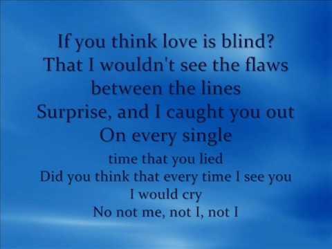 Delta Goodrem-Not Me Not I Lyrics