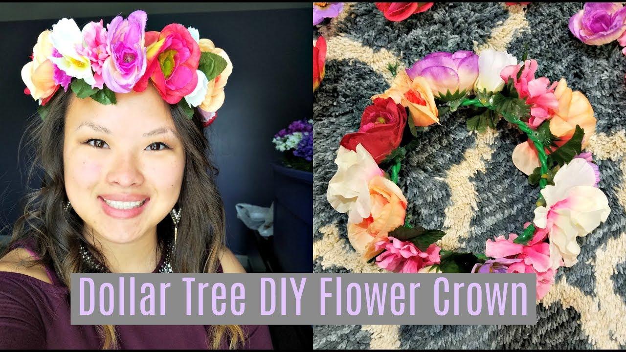 Dollar Tree Diy Flower Crown Youtube
