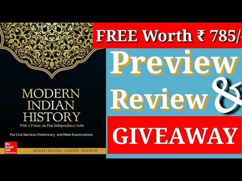 Modern Indian History || Mc Graw Hill || Review & Preview || GIVEAWAY ||