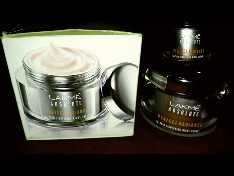 Lakme Absolute Perfect Radiance Skin Lightening Night Cream Review Hindi