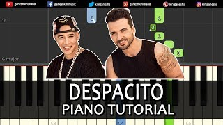 Despacito Justin Beiber ft. Luis Fonsi And Daddy Yankee| Piano Tutorials Chords Instrumental