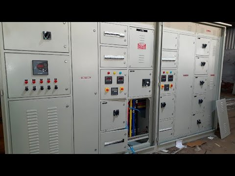 main lt switchgear panel with automatic changeover switch for switching btw  eb & dg with apfc panel