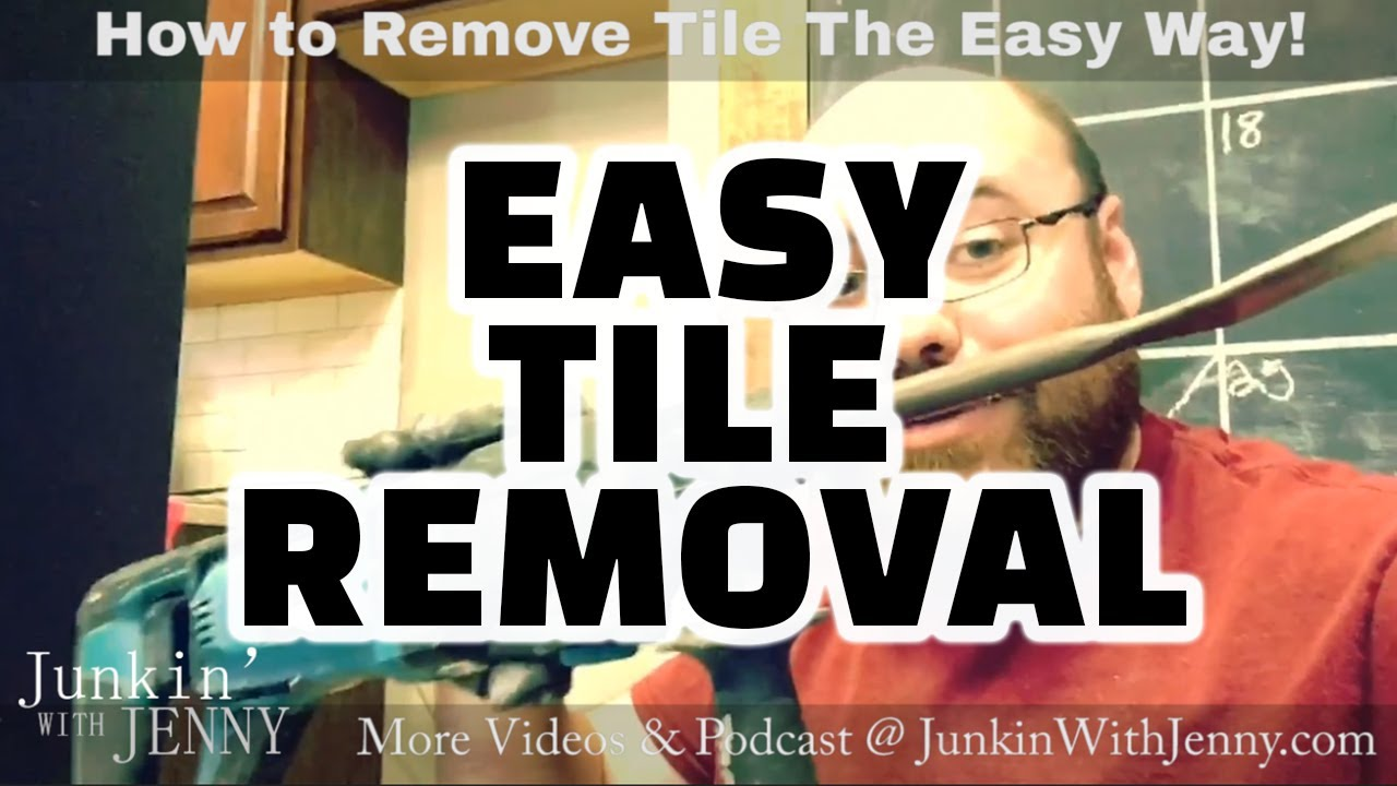 how to remove tile the easy way with a hammer drill