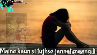 Jeeti rahe saltanat teri || Jeeti rahe ashiqui meri ||whatsapp status ||female vers By A.J. CREATION